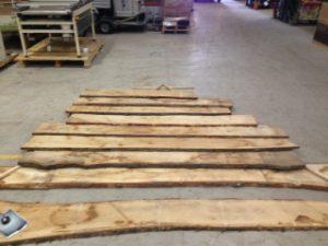 Gable End Oak Planks